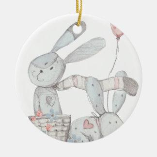 Ornamento De Cerâmica coelhos