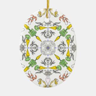 Ornamento De Cerâmica Coelhos do caleidoscópio