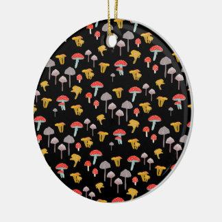 Ornamento De Cerâmica Cogumelos
