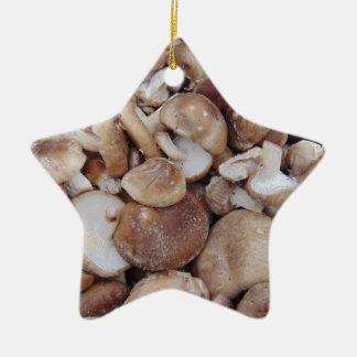 Ornamento De Cerâmica Cogumelos de Shiitake