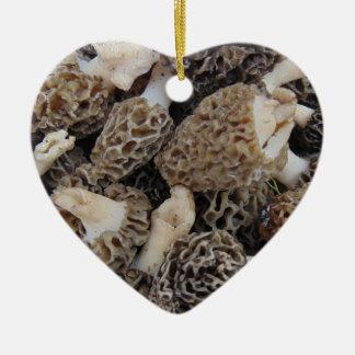 Ornamento De Cerâmica Cogumelos do Morel