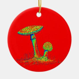 Ornamento De Cerâmica Cogumelos e Toadstools art.