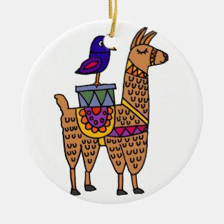 Ornamento De Cerâmica Col Lama com cobertura e pacotes coloridos