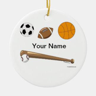 Ornamento De Cerâmica Colagem dos esportes