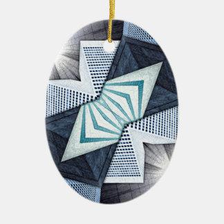 Ornamento De Cerâmica Colagem estrutural abstrata