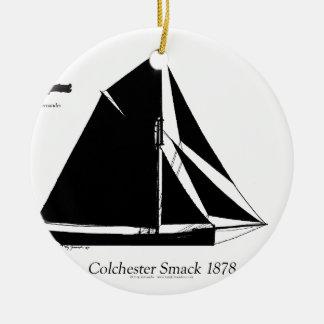 Ornamento De Cerâmica Colchester 1878 Smack - fernandes tony