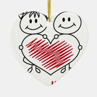 Ornamento De Cerâmica coleção doce do amor