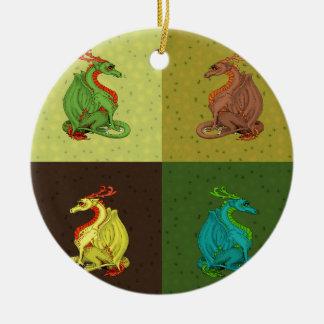 Ornamento De Cerâmica Coleção doce do dragão