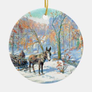 Ornamento De Cerâmica Colheita da queda do impressionismo  