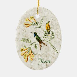 Ornamento De Cerâmica Colibri atado Sparkling