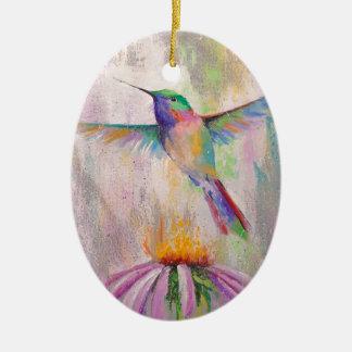 Ornamento De Cerâmica Colibri do vôo