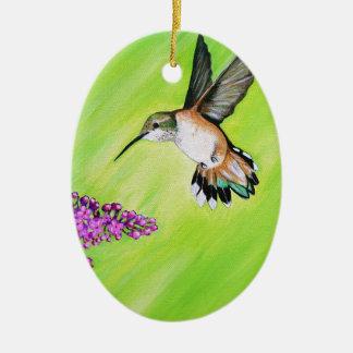 Ornamento De Cerâmica Colibri e Lilac