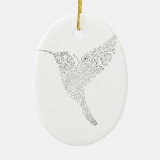 Ornamento De Cerâmica Colibri que bloqueia para fora