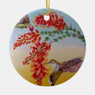 Ornamento De Cerâmica Colibris