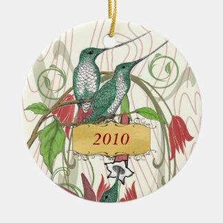 Ornamento De Cerâmica Colibris do vintage do Natal