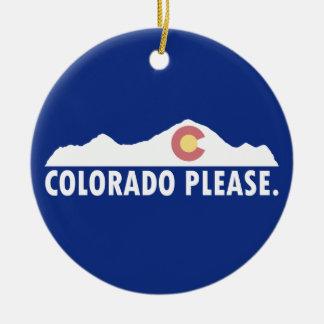 Ornamento De Cerâmica Colorado por favor