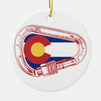 Ornamento De Cerâmica Colorado que escala Carabiner