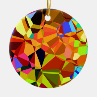Ornamento De Cerâmica Colorido