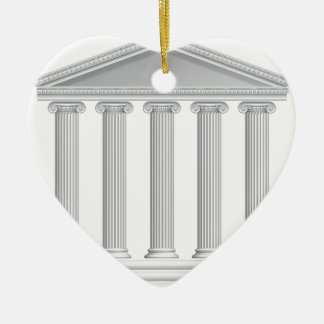 Ornamento De Cerâmica Colunas gregas ou romanas do templo