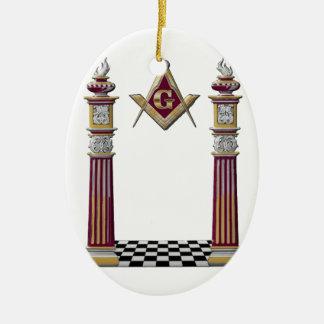 Ornamento De Cerâmica Colunas maçónicas