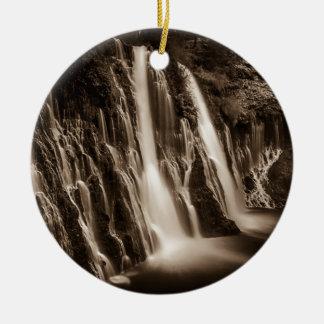 Ornamento De Cerâmica Com as quedas de Burney das rachaduras