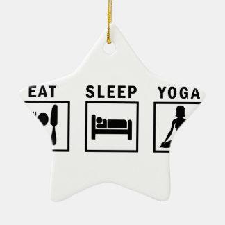 Ornamento De Cerâmica coma a ioga do sono