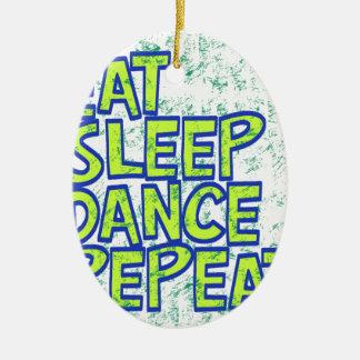 Ornamento De Cerâmica coma a repetição da dança do sono