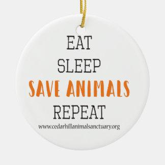 Ornamento De Cerâmica Coma animais das economias do sono