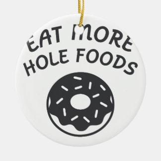 Ornamento De Cerâmica Coma mais alimentos do furo