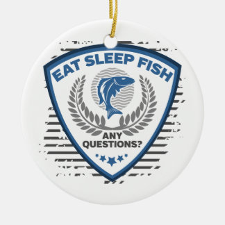 Ornamento De Cerâmica Coma peixes do sono toda a pesca das perguntas