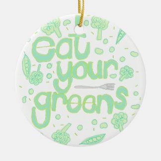 Ornamento De Cerâmica coma seus verdes