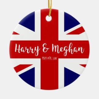 Ornamento De Cerâmica Comemoração real de Harry & de casamento de Meghan