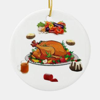 Ornamento De Cerâmica Comensal de Natal