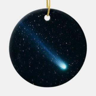 Ornamento De Cerâmica Cometa no céu nocturno