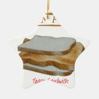 Ornamento De Cerâmica Comida do homem de Tony Fernandes - sanduíche do