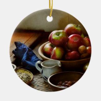 Ornamento De Cerâmica Comida - fruta - apronte para o pequeno almoço