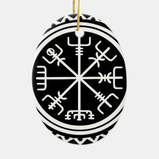 Ornamento De Cerâmica Compasso de Viking Vegvisir