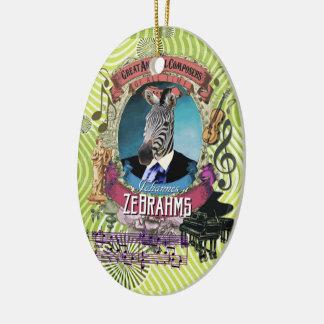 Ornamento De Cerâmica Compositor animal Brahms da zebra de Johannes