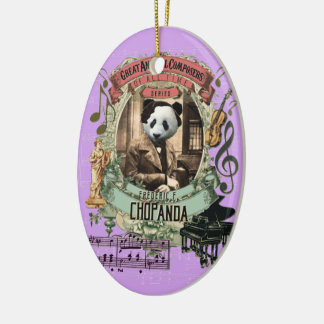 Ornamento De Cerâmica Compositor animal Chopin da panda de Frederic