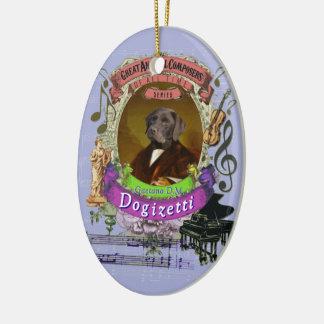 Ornamento De Cerâmica Compositor animal Donizetti do cão de Gaetano