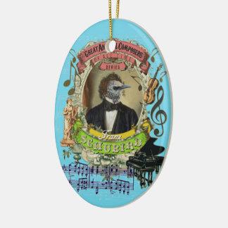 Ornamento De Cerâmica Compositor animal Schubert do pássaro de Franz