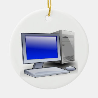 Ornamento De Cerâmica Computador de secretária