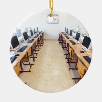 Ornamento De Cerâmica Computadores na sala de aula da educação holandesa