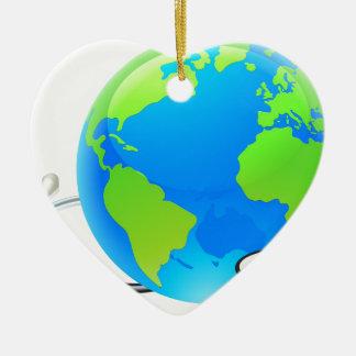 Ornamento De Cerâmica Conceito da saúde do globo do mundo da terra do