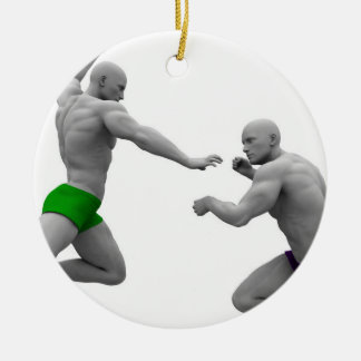 Ornamento De Cerâmica Conceito das artes marciais para a luta e a