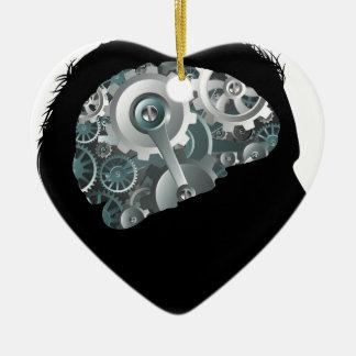 Ornamento De Cerâmica Conceito do homem do cérebro das rodas denteadas