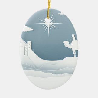 Ornamento De Cerâmica Conceito do Natal da natividade dos homens sábios