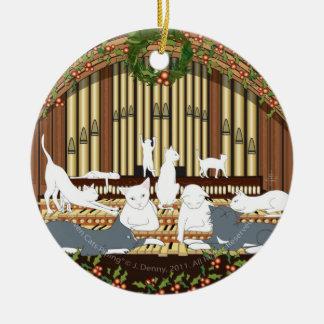 Ornamento De Cerâmica Condução por meio de canos de onze gatos… Árvore
