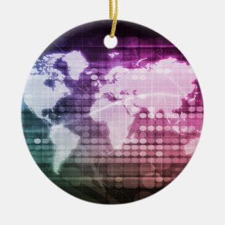 Ornamento De Cerâmica Conexão de rede global e sistema integrado