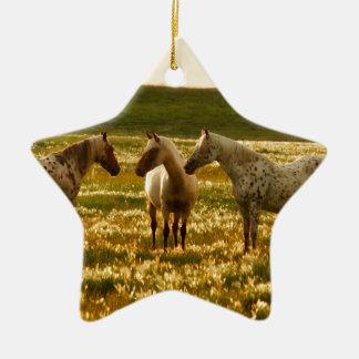 Ornamento De Cerâmica Conferência do cavalo